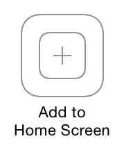 add to home screen button