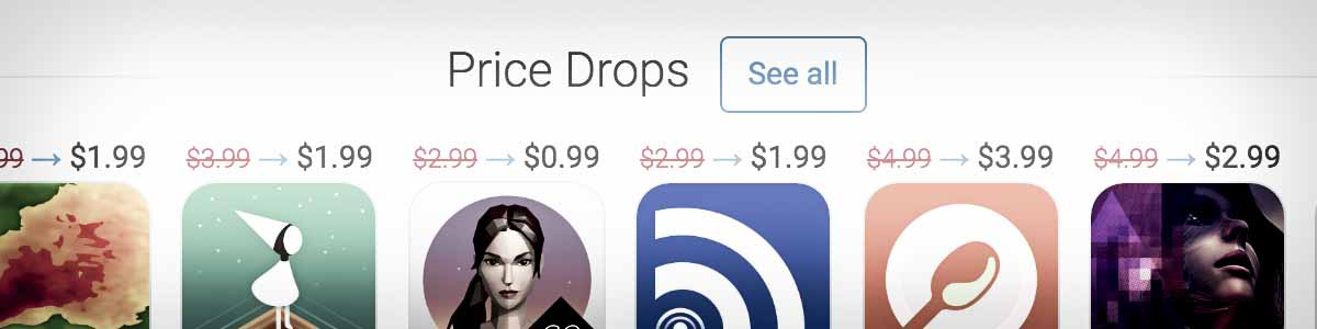 new feature: price drops