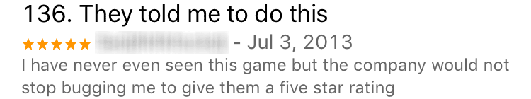 aggressively requested app review