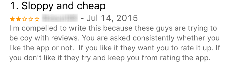 filtered app review